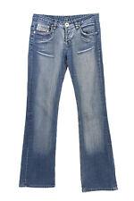 Vintage Diesel Mid Waist Straight Leg Denim Jeans 90s W30 L32 Ice Blue - J397...