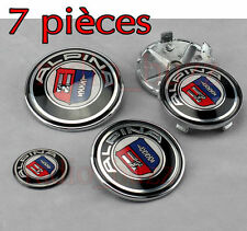 KIT 7 Badge Embleme LOGO ALPINA BMW - Capot + Coffre + Volant + 4 Cache Jante