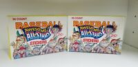 2 BOX LOT BASEBALL AWESOME ALL STARS COLLECTIBLE TRADING CARDS UNOPENED PACK BOX