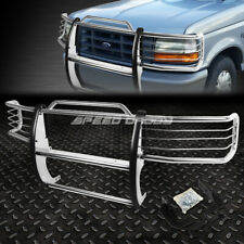 FOR 92-96 FORD F150-F350 PICKUP CHROME STAINLESS STEEL FRONT BUMPER GRILL GUARD