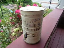 LARGE Primitive Antique Country Store Flour Bin EARLY SILVER Flour SIFTER