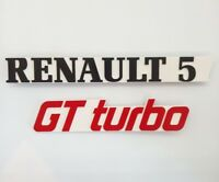 ⭐🇫🇷 NEUF KIT 2 MONOGRAMMES RENAULT 5 GT TURBO BLANC R5 GTTURBO BADGE SUPER 5