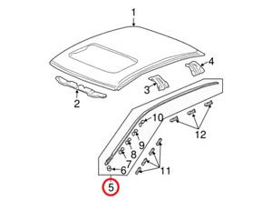 Genuine Honda Accord Drip Side Molding Trim Roof Assembly Left OE 73162SDAA01