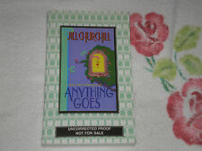 ANYTHING GOES by JILL CHURCHILL    *SIGNED*  -ARC-  JA