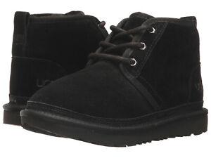 Kids UGG Neumel II Boot Suede Upper 1017320K Black 100% Authentic Brand New