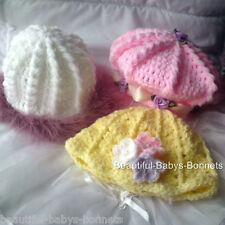 CROCHET PATTERN by Beautiful-Babys-Bonnets for Girls Hats/Beret/Beanie 0-3yr #20