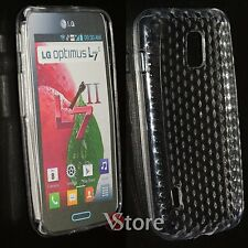 Cover Custodia Per LG L7 II 2 Optimus P710 Trasparente Silicone Gel + Pellicola