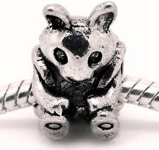 Backpack Rabbit Camping Hiking Animal Bead for Silver European Charm Bracelet