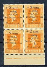 NEDERLAND 1945 PRIVE OPDRUK + 2 ct -VOOR DEN OPBOUW VAN HET VADERLAND **PF 4 x