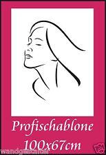 Wandschablone, Wandschablonen, Malerschablonen, Modernart, Frauengesicht 1
