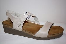 NAOT LIGHT BEIGE LEATHER ANKLE STRAP SANDALS WOMENS SZ 10