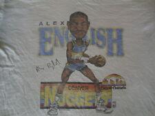 Vintage NBA 1987 Denver Nuggets ALEX ENGLISH Caricature Cartoon 80's T shirt XL