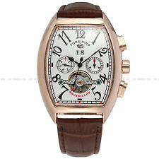FORSINING Luxury Skeleton Stainless Steel Mechanical Automatic Mens Watch 694#