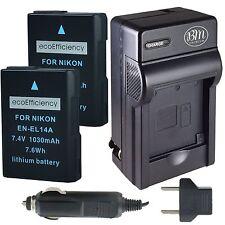 ecoEfficiency 2 EN-EL14, EN-EL14A Batteries & Charger for Nikon D3300, D3400