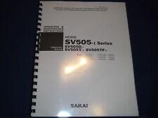 SAKAI SV505D-1 SV505T-1 SV505TF-1 VIBRATING ROLLER OPERATION MAINTENANCE MANUAL
