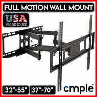 Full Motion TV Wall Mount Swivel Bracket 32 37 40 42 46 47 50 52 55 60 65 70