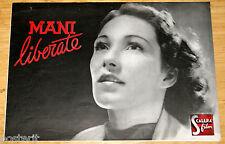 guida pubblicitaria originale MANI LIBERATE Brigitte Horney Carl Raddatz 1941
