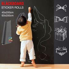 Blackboard Wall Sticker Decal Chalkboard Vinyl Labels Peel Removable DIY 5 Chalk
