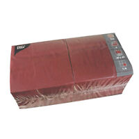1000 bordeaux Tissue Servietten 3-lagig 1/4-Falz 40 cm Party Papstar