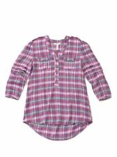 Matilda Jane Women's Size Small Plaid All Day Millie Top NWT In Bag Make Believe