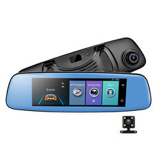 New listing 8' 4G 1080P Auto Car Dvr Camera Gps Android 5.1 Car Rear View Mirror Dash Cam