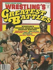 JULY 1977 WRESTLING GREATEST BATTLES MAGAZINE BRUNO MASCARAS SHEIK ANDRE KILLER