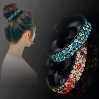 Women Fashion Crystal Hair Clip Claw Ponytail Bun Holder Hair Comb Hairpin Gift