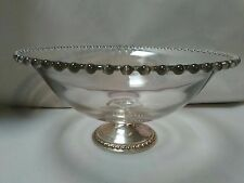 """L21 Vintage Imperial Candlewick """"Mayflower"""" Pedestal Bowl with Sterling Base-EUC"""