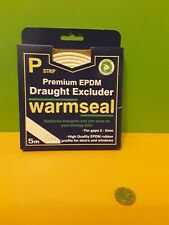 5 mt Warmseal rubber P strip  Draught excluder seals gaps up to 5mm