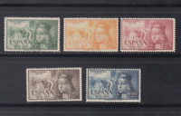 SPAIN (1951) - MNH COMPLETE SET SC SCOTT C132/36 ISABELLA I