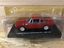 "DIE CAST "" LANCIA FULVIA COUPE RALLYE HF 1967 "" 100 ANNI DELL' AUTOMOBILE 1/43"