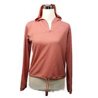 Nike Dri Fit Vintage Long Sleeve Athletic Shirt Top Hoodie Peach Pink Sz XS 0-2