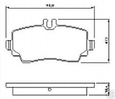Brake Pads Front Axle for DB Mercedes A-Class W168