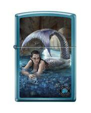 Zippo 8016 Anne Stokes Mermaid High Polish Blue Finish Lighter