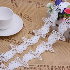 2 Yards Off White Lace Polyester Flower Venise Trim Applique Sewing Crafts