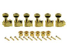 Kluson Revolution Diecast Tuners 6 Inline Vintage H-Mount Gold KTNC-3805GL