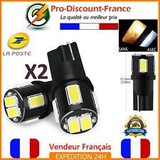 2 Ampoules LED T10 W5W Blanc Xenon Ampoule Veilleuse Voiture 6000K Interieur Ext