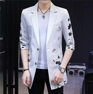 Hot Korean Mens Korean Slim Fit Cotton Thin Coats Jackets Vogue Casual Spring