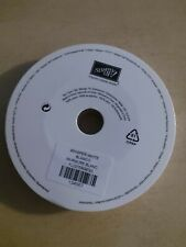 """Brand New Roll of Stampin Up Whisper White  1/4"""" Cotton Ribbon 10 Yards"""