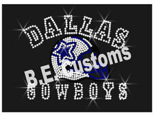 "Rhinestone Transfer ""Small Dallas Cowboys helmet"" Hotfix , Iron On, Bling"