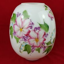 ja Hand Painted Gone with The Wind Globe Lamp Shade Floral Pink  #2