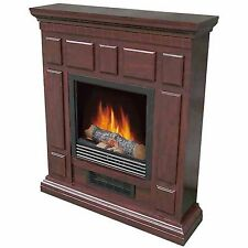 "Electric Fireplace Heater Indoor Living Room Bedroom with 32"" Mantle, Cherry"