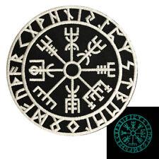 Glow Dark Viking Compass Vegvisir iron on Sew on Patch (GLW1)