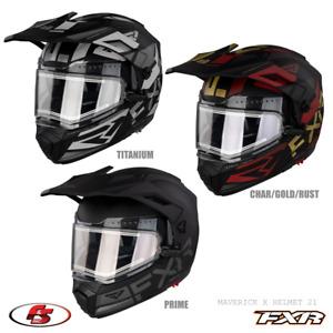 NEW 2021 FXR Maverick X Modular Snowmobile Helmet Titanium/Prime/Rust MD LG XL 2