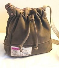 {Fossil Forever} Cute! Khaki With Pink Strips Colors,Lady Mini Bag Adjustable.