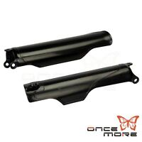 Black Lower Fork Guards Covers For Honda CRF 250 450 2004-14 CR 125 250 2004-07