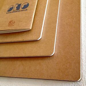 ECO artists sketch books from the SHO Gallery made by Seawhite A4,A5,A6 recycled