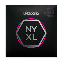 D'Addario NYXL Bass Guitar Strings for Double Ball end Steinberger gauges 45-130