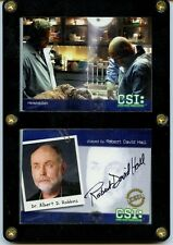 CSI: Crime Scene Investigation - ROBERT DAVID HALL Signed Collector Card