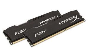 Kingston HyperX FURY 16GB (2x8GB) 1866 DIMM DDR3 SDRAM Memory (HX318C10FBK2/16)